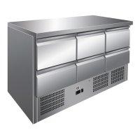 GI Edelstahl Kühltisch mit 6 Schubladen,...