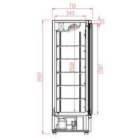 Kühlschrank 1 Glastüre schwarz JDE-600R BL